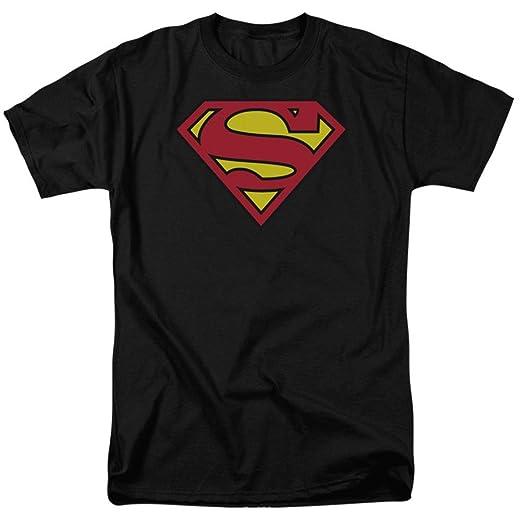 Amazon.com  DC Comics Superman Classic Logo Men s Black T-Shirt ... 71887461cd