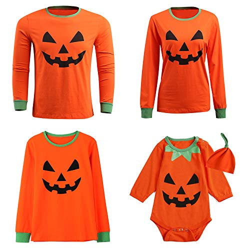 Matching Sister Halloween Costumes (Halloween Costume Outfit Little Boys Girls Funny Pumpkin Family Matching Shirts (Orange,5)