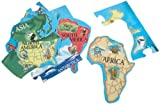 Melissa & Doug World Map Jumbo Jigsaw Floor Puzzle (33 pcs, 2 x 3 feet)