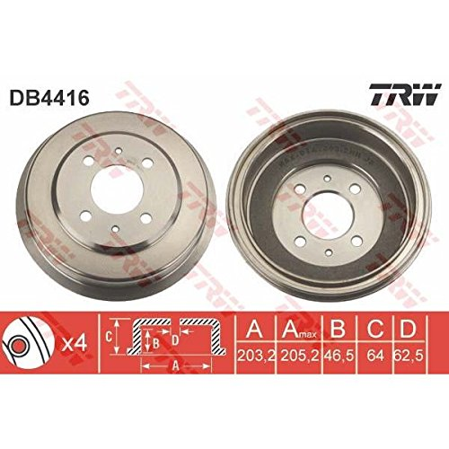 TRW DB4416 Brake Drums: