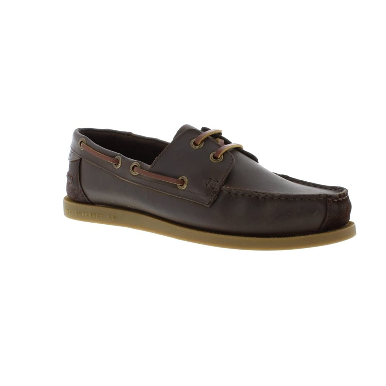 Leather Deck Shoe - Dark Brown (Nubuck) Mens Shoes