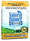 Natural Balance L.I.D. Limited Ingredient Diets Potato & Duck Formula Dry Dog Food, 26-Pound