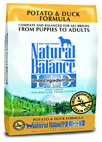 Dick Van Pattens Natural Balance Limited Ingredient Diets Potato and Duck Formula Dry Dog Food 26-Pound Bag