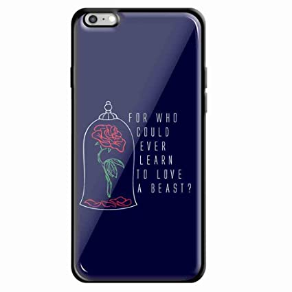 Amazoncom Beauty And The Beast Rose Logo Quote For Iphone 66s