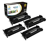 Catch Supplies CF226A 26A Premium 4 Pack Black Replacement Toner Cartridge Compatible with HP LaserJet Pro M402d M402dn M402n and Pro MFP M426dw M426fdn M426fdw Laser Printers |3,100 Yield|