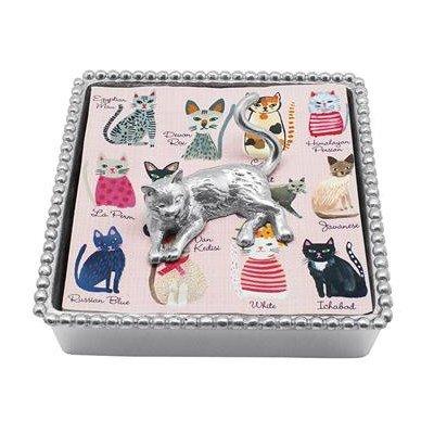 Mariposa Cat Beaded Napkin Box by Mariposa