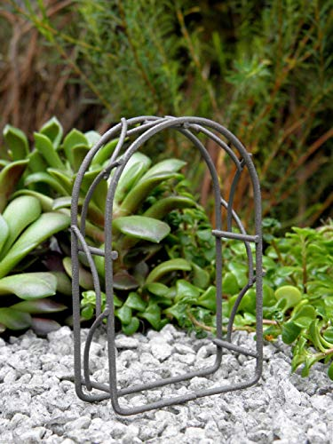 Danike Decor Miniature Dollhouse Fairy Garden Furniture Tiny Micro Mini Rustic Metal Arch (Arch Rustic Garden Furniture)