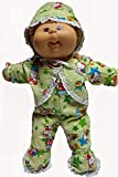 Doll Clothes Super store Lime Green Kitty Print Sleeper Fits Cabbage Patch Kid Dolls