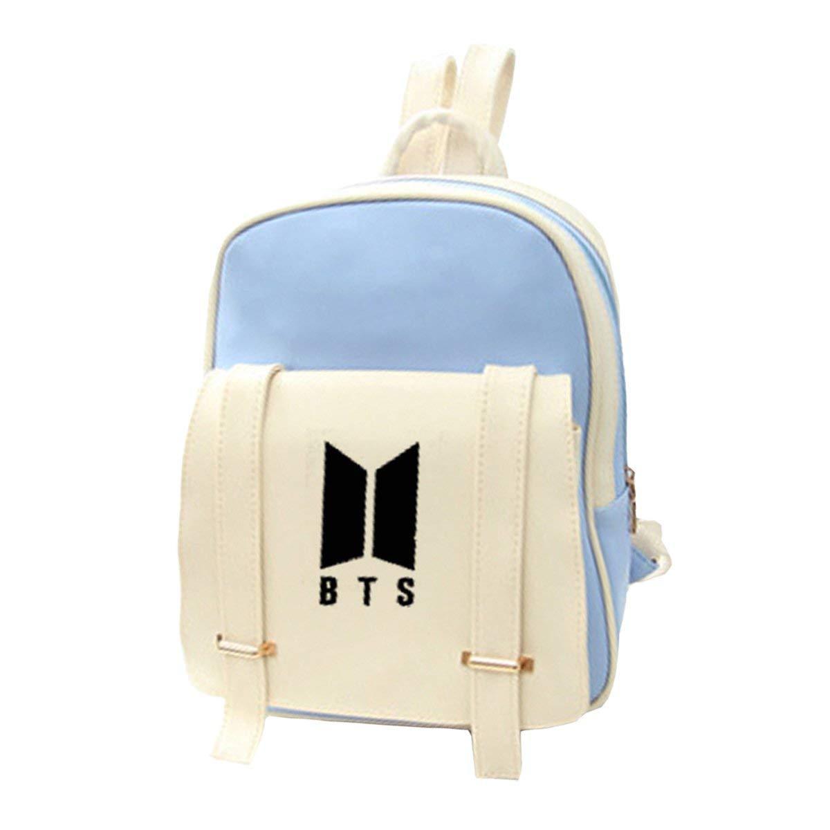 Kpop BTS New Logo PU Backpack Jung Kook Jimin Casual Preppy School Bag