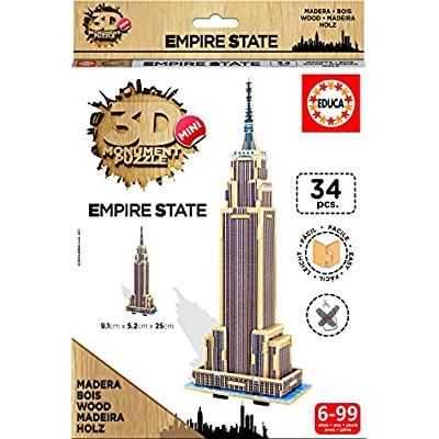 Educa Puzzle 3d Legno Empire State 34 Pezzi 17306