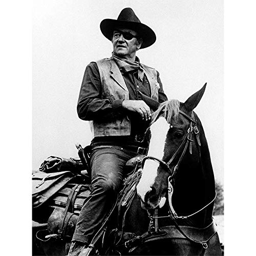John Wayne 3D Poster Wall Art Decor Print | 11.8 x 15.7 | Lenticular Posters & Pictures | Memorabilia Gifts for Guys & Girls Bedroom| The Duke on Horse Classic Movie & Vintage Cowboy Film Picture (Posters Of John Wayne)