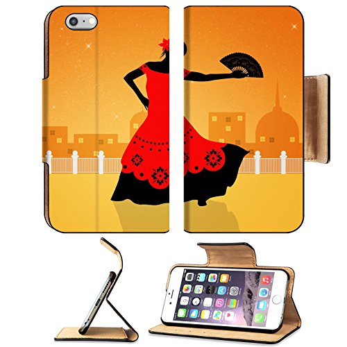Flash Dance Latin Costumes (Liili Apple iPhone 6 Plus iPhone 6S Plus Pu Leather Flip Case Illustration of flamenco dancer iPhone6 Plus Image ID 21730599)