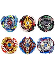 infinitoo Bey Battling Top Burst | Burst Evolution Combination Series 4D | Set of 6 Fighter Gyroscope 4D Fusion Model | 2 throwers Set with Launcher | Blade Best Gift for Children Kids Toys