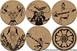 Order of the White Lotus Double-Sided Coasters - Avatar: The Last Airbender