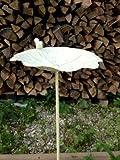 Bebedero para pájaros Jardín Conector Color Blanco de metal, 102x 28cm