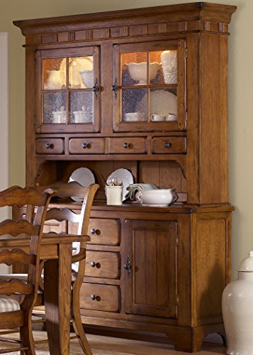 (Liberty Furniture Treasures Dining Hutch & Buffet (17-DR-HB), Rustic Oak, W62 X D20 X H85)