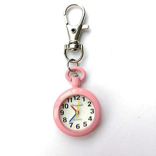 Hermosos Relojes para niños niños Colgando Cuadro Color Moda Reloj de Cuarzo Reloj Llavero: Amazon.es: Relojes