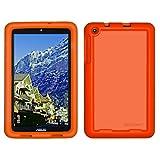 Bobj Rugged Case for ASUS MeMO Pad 8 (ME181C, ME181CX, K011, MG8, MG181C, MG181CX) and ASUS VivoTab 8 (M81C, K01G) - BobjGear Protective Tablet Cover (Outrageous Orange)