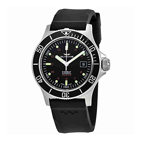 Glycine Combat Sub Automatic Black Dial Mens Watch GL0087