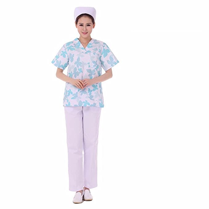 Xuanku Traje De La Enfermera Se Compone De Manga Corta De Medicos Enfermeras, Enfermeros,