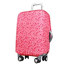 uxcell® Star Pattern Washable Luggage Suitcase Trolley Protective Cover 26-30 Inch Pink