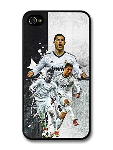 Cristiano Ronaldo Collage Real Madrid CF Football coque pour iPhone 4 4S A058