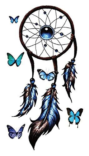 dreamcatcher butterfly temporary tattoo Bohemian Hippy