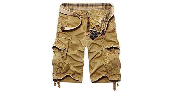 aede701628 Amazon.com: MLG Men's Baggy Fit Multi Pocket Cargo Shorts Asia 34 Khaki:  Clothing