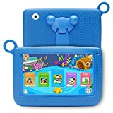 LLLtrade 7 inch Kids Education Tablets Android 5.1 8GB, Kids Software Pre-Installed, Premium Parent Control, Educational Game Apps,WiFi,Bluetooth (Blue)