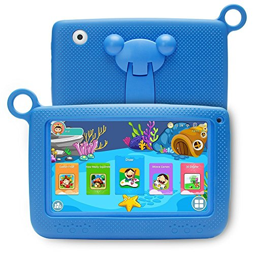 LLLtrade 7 inch Kids Education Tablets Android 5.1 8GB, Kids Software Pre-Installed, Premium Parent Control, Educational Game Apps,Wifi,Bluetooth (Blue) by llltrade