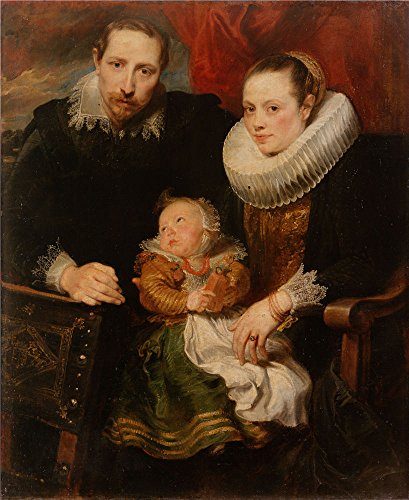 Oil Painting 'Dyck, Anthony Van_1621_Family Portrait', 10 x 12 inch / 25 x 31 cm , on High Definition HD canvas prints is for Gifts And Basement, Dining Room And Foyer Decoration, prints ()
