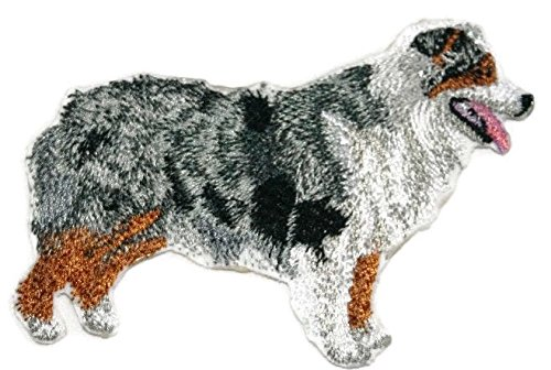 (Amazing Custom Dog Portraits [Australian Shepherd] Embroidery IronOn/Sew patch [4.5