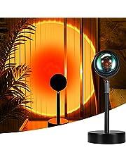 Mydethun Sunset lampa projekcyjna z efektem zachodu słońca, lampa USB LED, projektor obracany o 90°, romantyczna nastrojowa lampa do sypialni