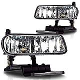 Premium 2pc Fog Lights Fit 99-02 Chevy Silverado 1500 & 2500;00-01 Chevy Silverado 3500;00-06 Chevy Suburban;00-06 Chevy Tahoe OEM Fog Lights - Clear Lens - Light bulb type 899 12V 37.5W. (1 Pair includes both Driver & Passenger Sides.)