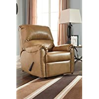 Lottie DuraBlend Almond Faux Leather Transitional Rocker Recliner Chair