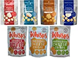 Moon Cheese (2 oz) and Cello Whisps (2.12 oz) 7 Pack Crunchy Snack Assortment