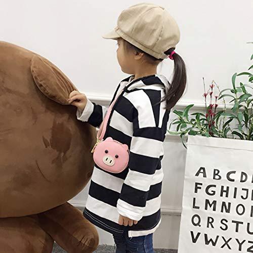 Kids Crossbody Cartoon Bandoulière Lovely À Pink For Bag Sac Coafit Purse wxXqz1PnZ