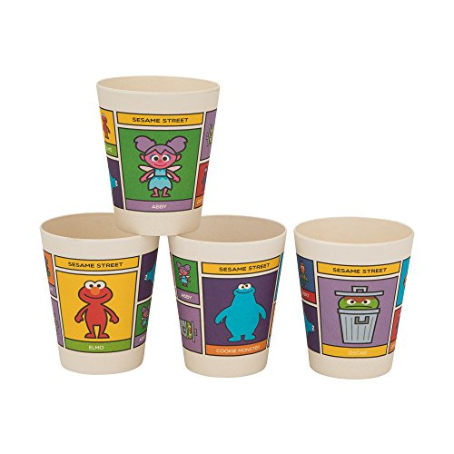 Vandor Sesame Street 10-Ounce Bamboo Cups, 4-Piece Set (32003) ()