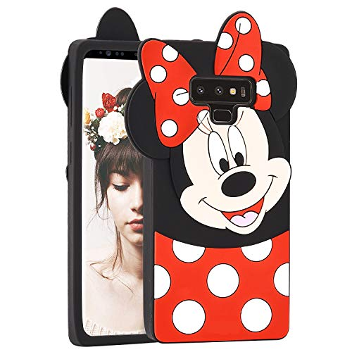 Allsky Case for Samsung Galaxy Note 9,Cartoon Soft Silicone Cute 3D Fun Cool Cover,Kawaii Unique Kids Girls Teens Animal Character Rubber Skin Shockproof Funny Cases for Galaxy Note9 Minnie - 3d Note 3 Cartoon Case