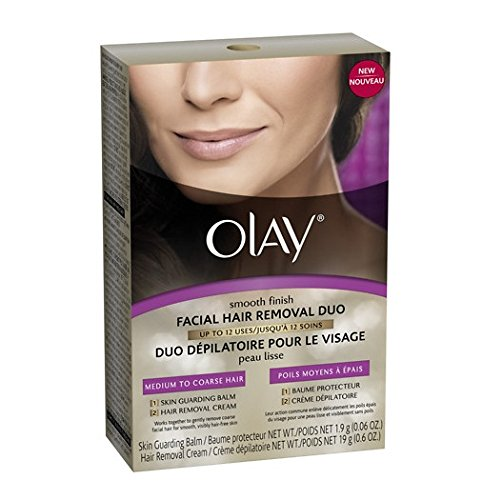 Olay Smooth Finish Facial Hair Removal Duo - Medium To Coarse Hair, Pack of 2 Box.