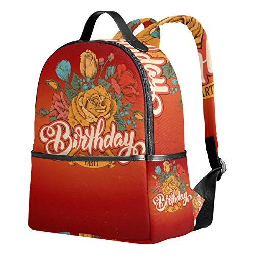 Happy Birthday (2) Unisex Rucksack Canvas Satchel Casual Daypack ,School College Student - Jim Boynton