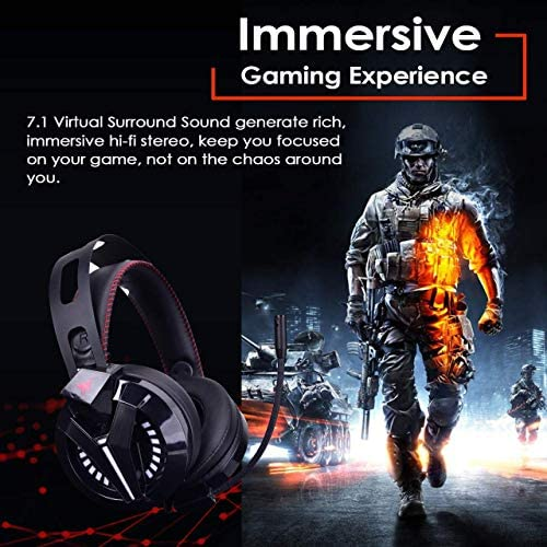 Combatwing Gaming Headset – PS4 Headset PC Headset Xbox One Headset with Noise Canceling Mic Gaming Headphones for PS4/Super Nintendo/Nintendo 64/Xbox One(Adapter Not Included) 51WEJTs1FoL
