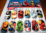 Marvel Avengers and Super Heros Figure Dog Tag Set of 15 with Bonus, My Pet Supplies
