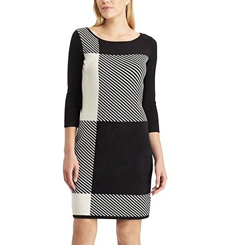 Chaps Plaid XL Sweater Size Colorblock Women Dress qqHxOPr