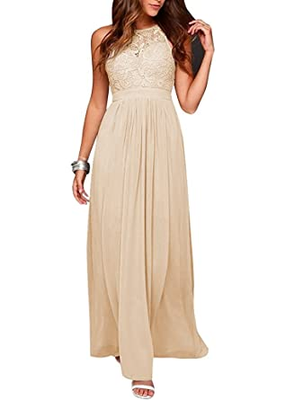 Sound of blossoming Lace Chiffon Bridesmaid Dress Open Back Prom Dress CE2