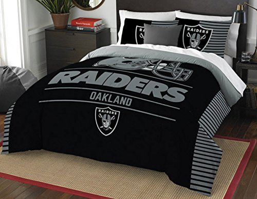 Lovely Oakland Raiders Comforter Set Bedding Shams NFL 3 ...