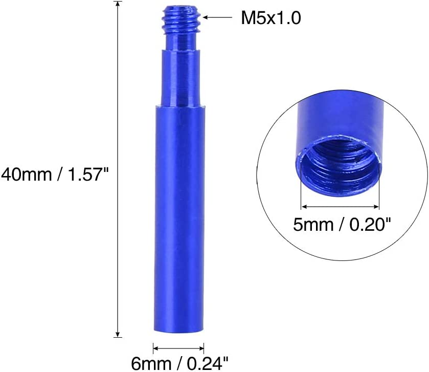 X AUTOHAUX 40mm Aluminio Aleaci/ón Bicicleta Presta V/álvula Extensor Extensi/ón Azul 4Pcs