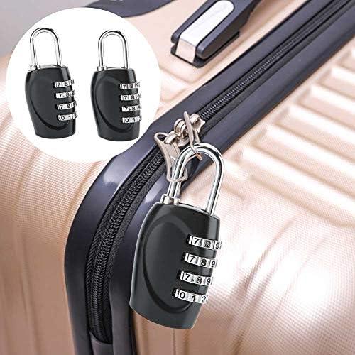 ダイヤルロック、2ピース4ダイヤル桁パスワードロックスーツケース荷物金属パスワードセキュリティロック用ロッカー、荷物、ツールボックス