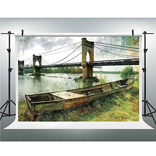 Landscape,Photography Backdrop Silk Photography Backdrops Studio Props,10x10ft,Bridge and