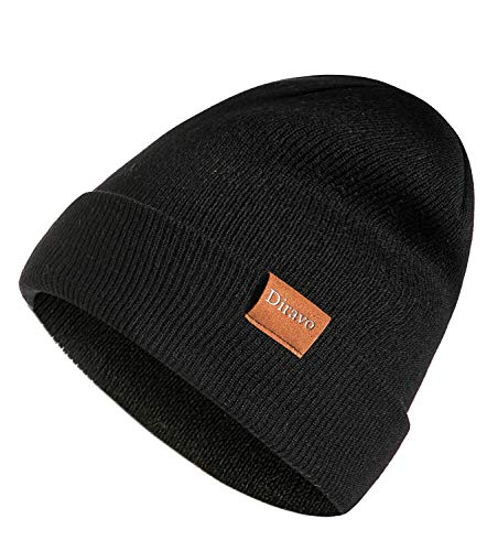 Warm Beanie Hat Men Women Warm Cable Knitted Hat Winter Soft Stretch Chunky Cuff Beanie